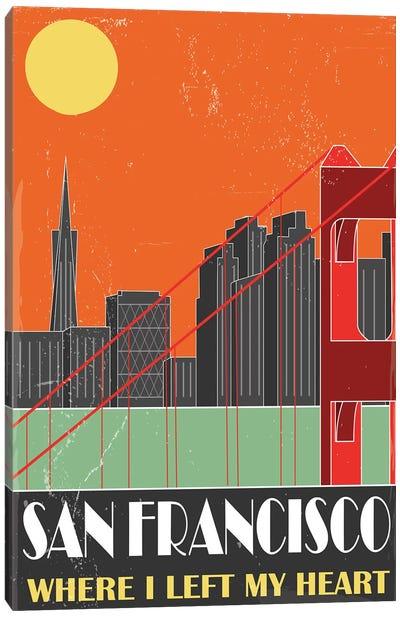 San Francisco, Orange Canvas Art Print