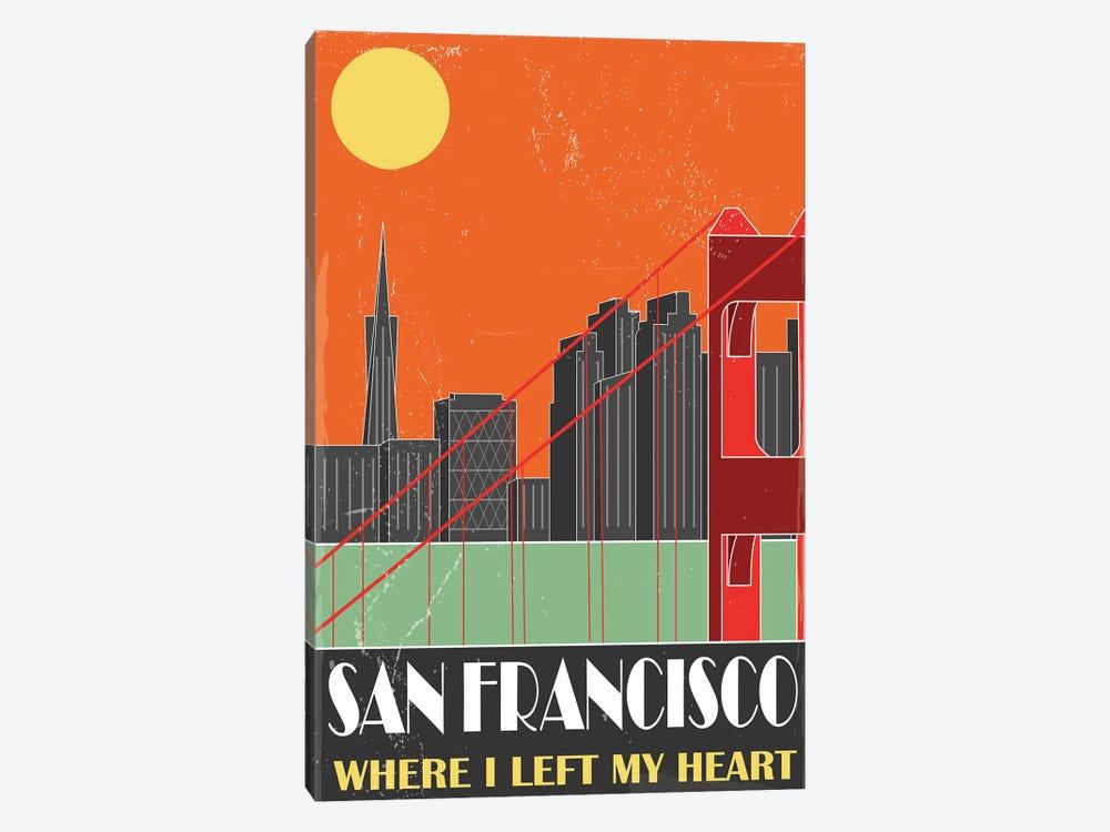 San Francisco, Orange by Fly Graphics 1-piece Canvas Artwork