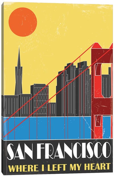 San Francisco, Yellow Canvas Art Print