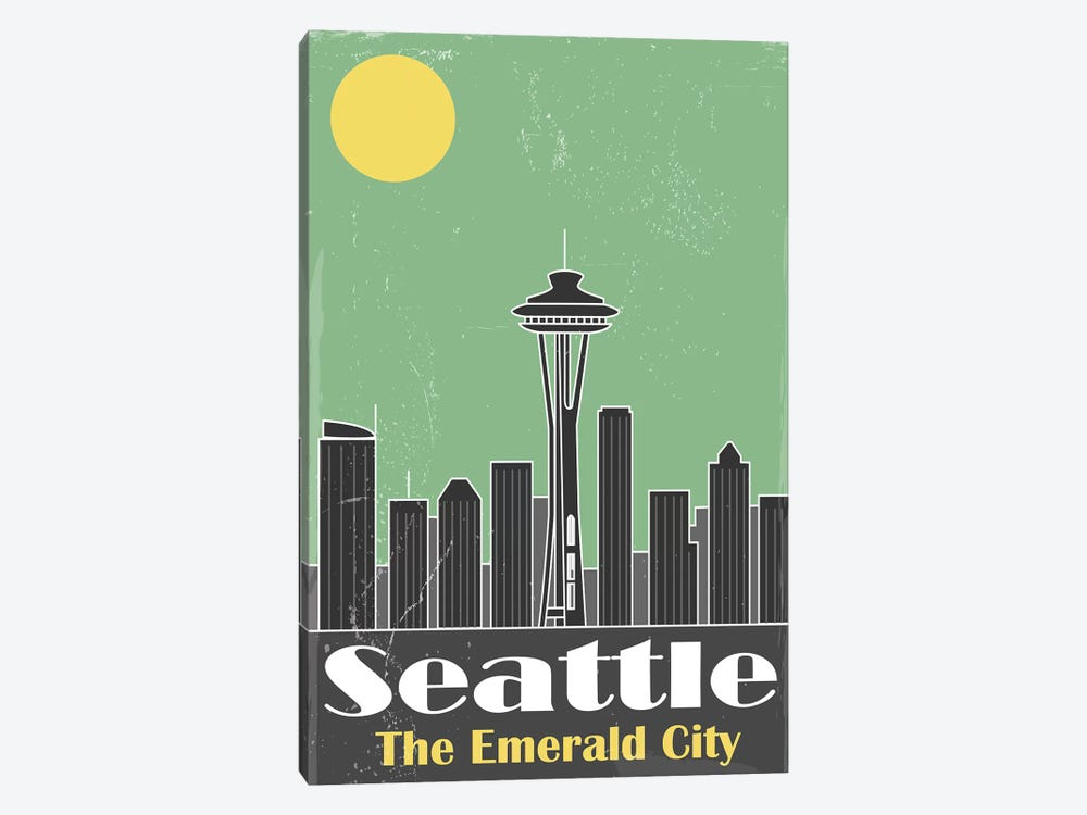 Seatle by Fly Graphics 1-piece Canvas Art
