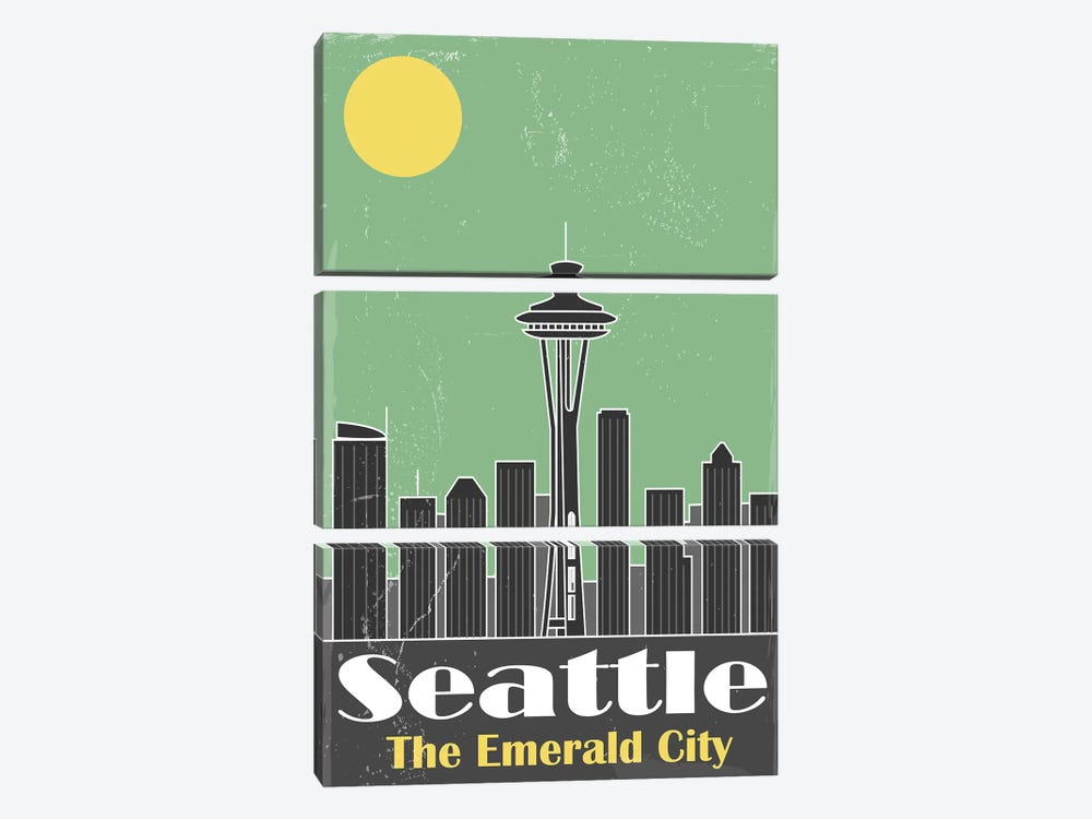 Seatle by Fly Graphics 3-piece Canvas Artwork