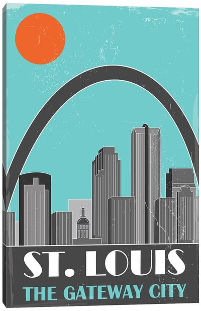 St. Louis, Sky Blue Canvas Art Print