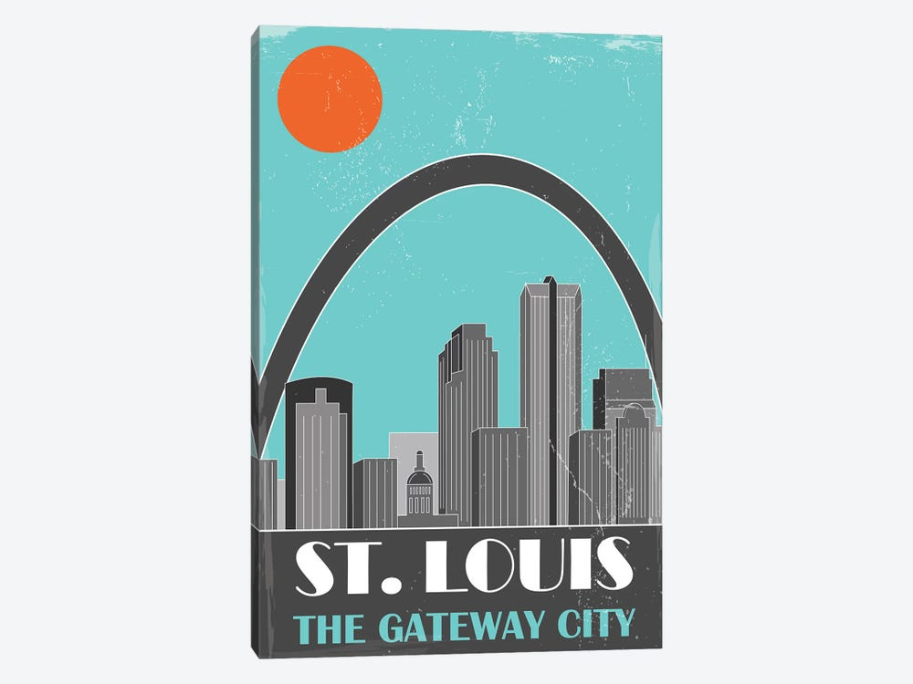 St. Louis, Sky Blue by Fly Graphics 1-piece Canvas Art Print