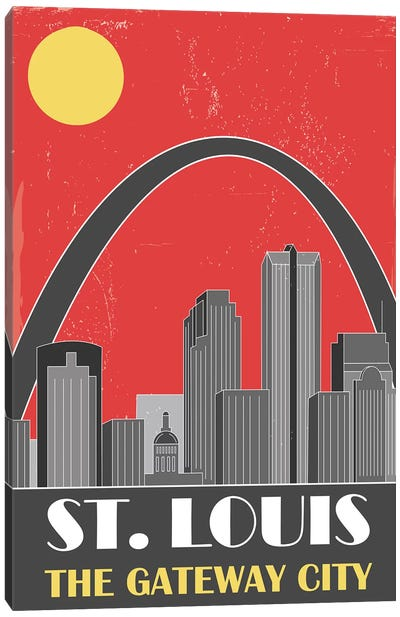 St. Louis, Red Canvas Art Print