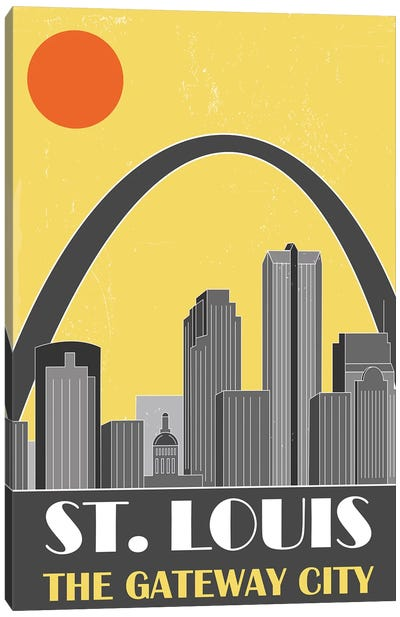 St. Louis, Yellow Canvas Art Print