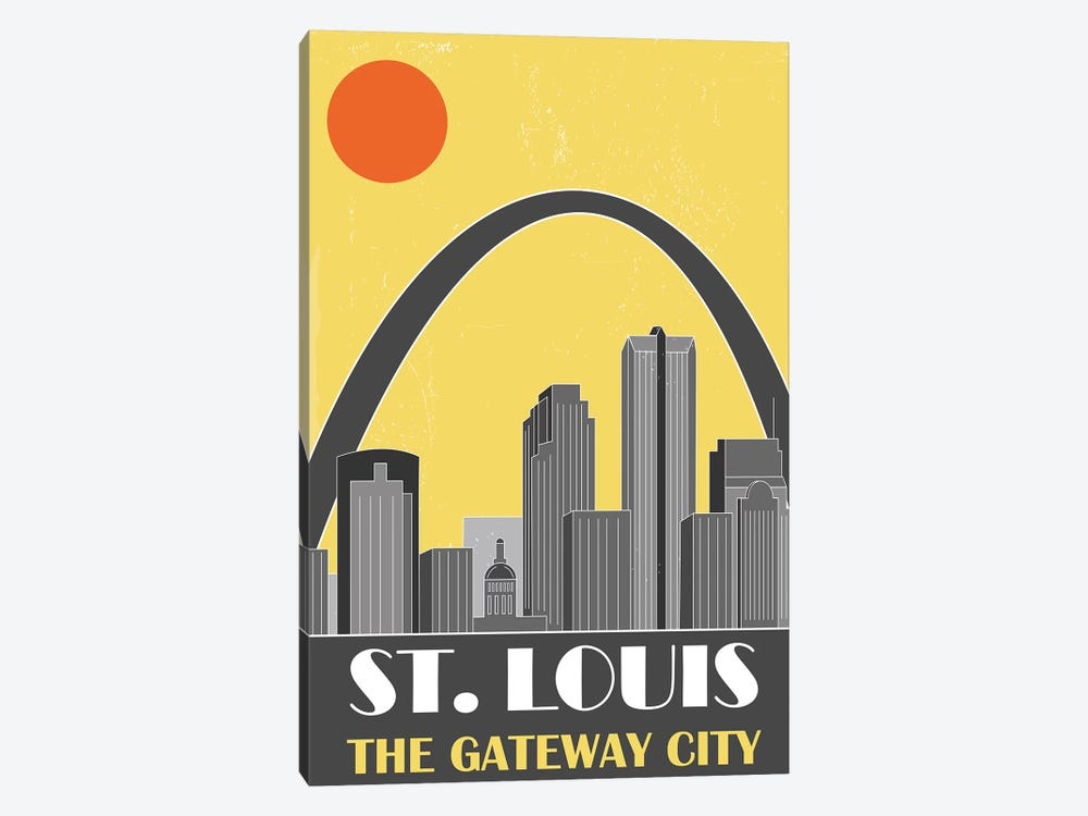St. Louis, Yellow by Fly Graphics 1-piece Art Print
