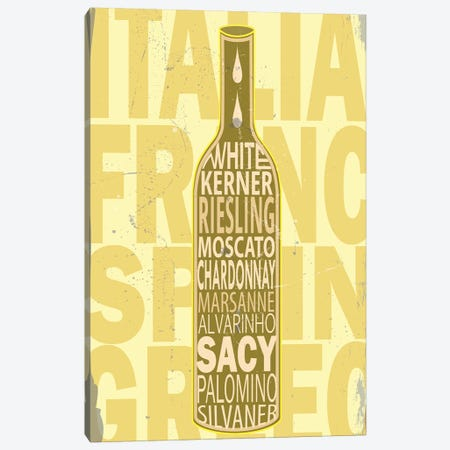 White Wines Canvas Print #FLY48} by Fly Graphics Canvas Wall Art