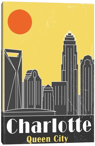 Charlotte, Yellow Canvas Art Print