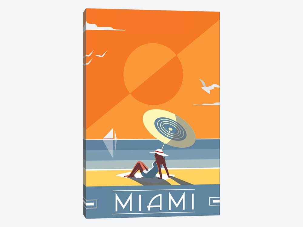 Miami by Fly Graphics 1-piece Art Print