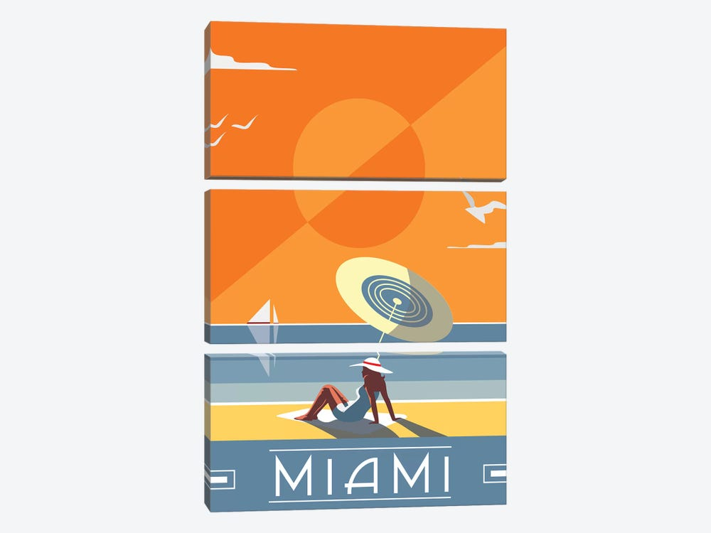 Miami by Fly Graphics 3-piece Art Print