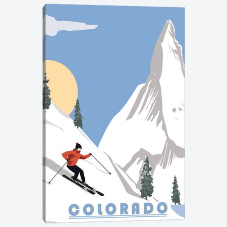Skiing in Colorado Canvas Print #FLY55} by Fly Graphics Canvas Art