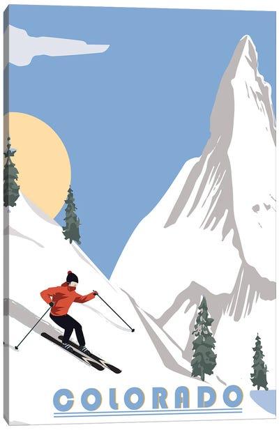 Skiing in Colorado Canvas Art Print