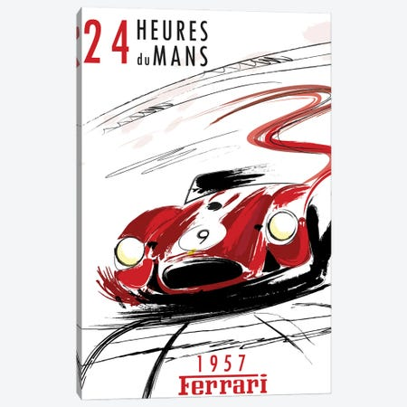 Ferrari 24 Hr Le Mans Canvas Print #FLY57} by Fly Graphics Canvas Artwork