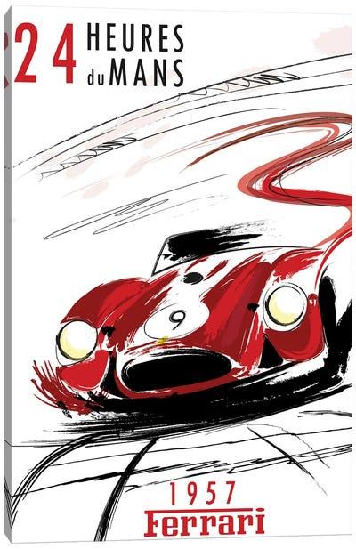 Ferrari 24 Hr Le Mans Canvas Art Print
