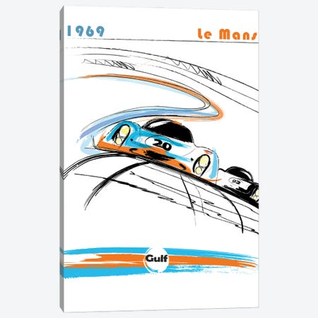 Porsche 24 Hr Le Mans Art Canvas Print #FLY58} by Fly Graphics Canvas Print
