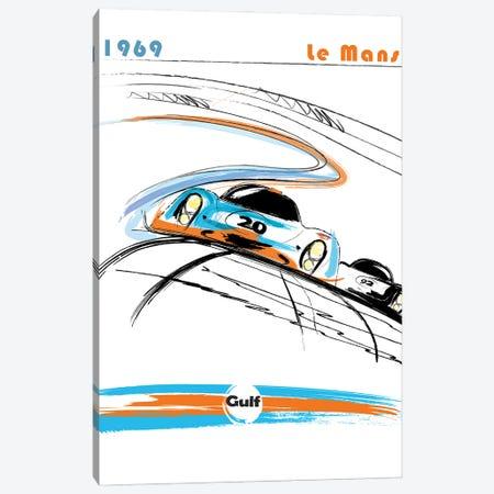 Porsche 24 Hr Le Mans Art Canvas Print #FLY58} by Fly Graphics Canvas Print