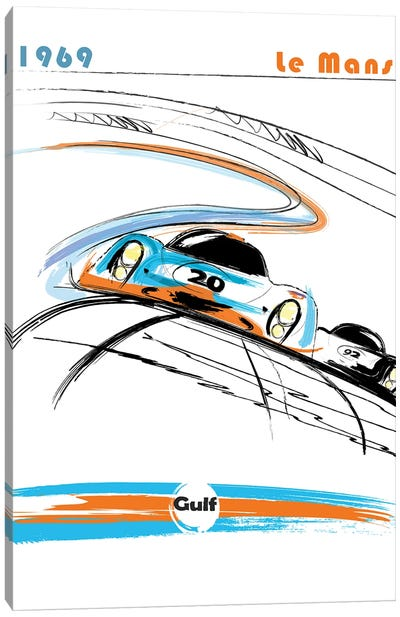 Porsche 24 Hr Le Mans Art Canvas Art Print