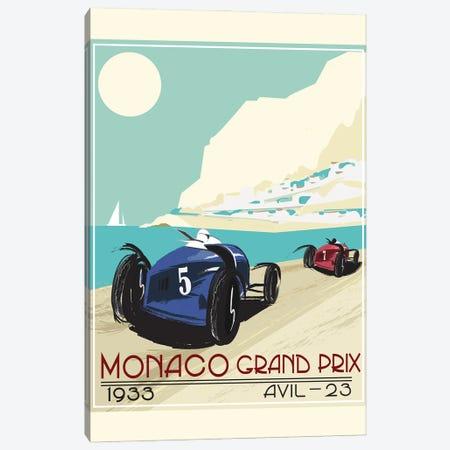 Monaco Grad Prix 1933 Canvas Print #FLY59} by Fly Graphics Canvas Print