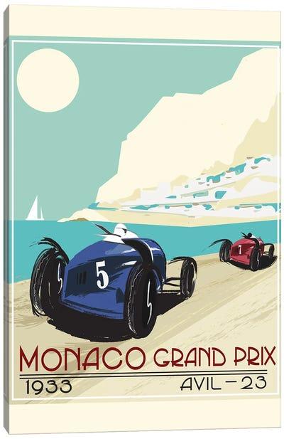 Monaco Grad Prix 1933 Canvas Art Print
