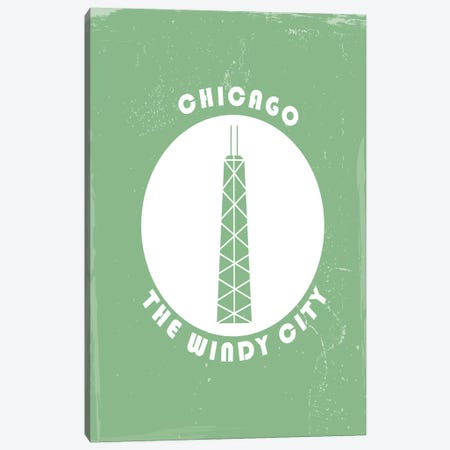 Chicago, Circle Canvas Print #FLY5} by Fly Graphics Canvas Artwork