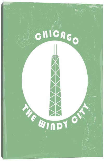 Chicago, Circle Canvas Art Print