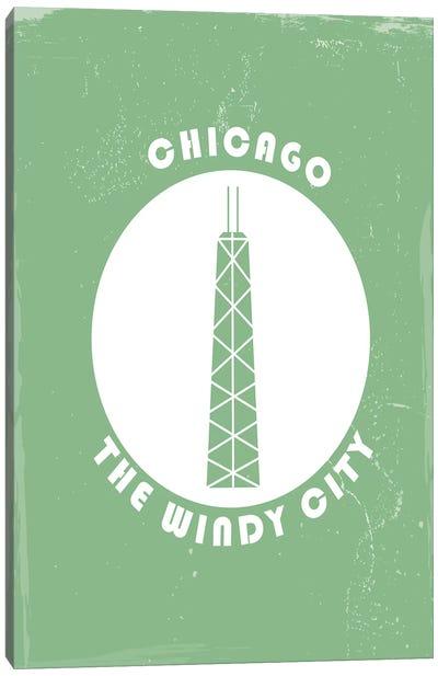 Chicago, Circle Canvas Art Print