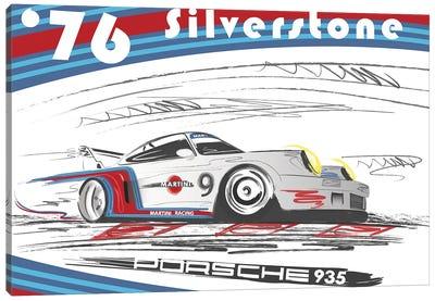 Porsche 911 1974 Silverstone Canvas Art Print