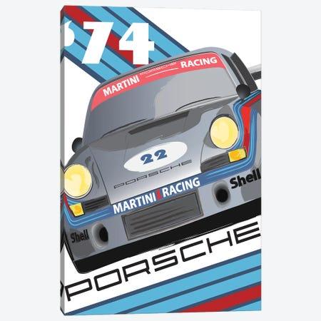 911 Porsche 1974 24 Hr Le Mans Canvas Print #FLY61} by Fly Graphics Canvas Artwork