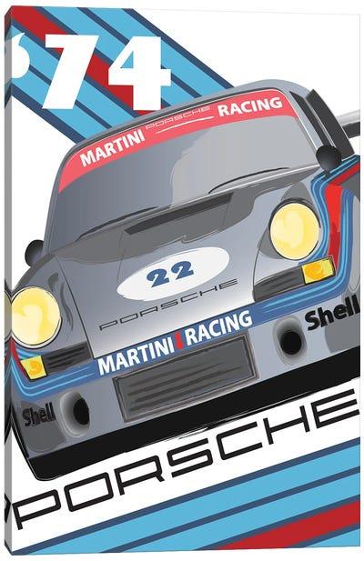 911 Porsche 1974 24 Hr Le Mans Canvas Art Print