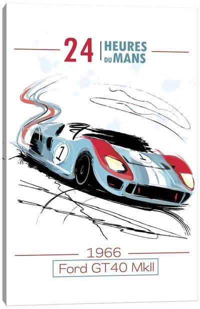 Ford Vs. Ferrari 24Hr Le Mans Canvas Art Print
