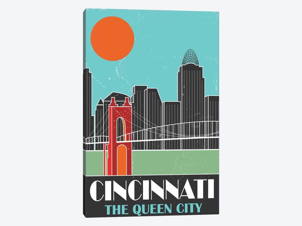 Cincinnati, Sky Blue by Fly Graphics 1-piece Art Print