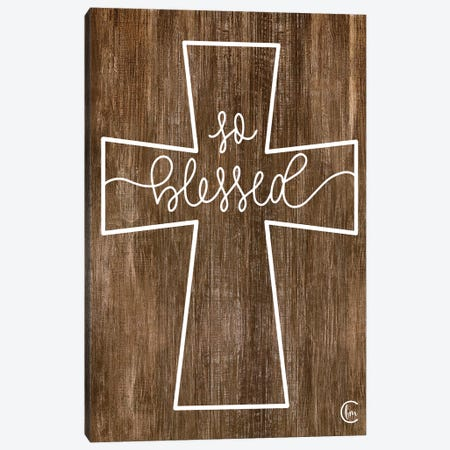 Blessed Cross Canvas Print #FMC16} by Fearfully Made Creations Canvas Print