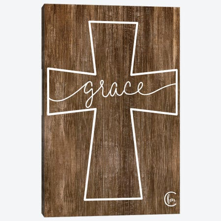 Grace Cross Canvas Print #FMC23} by Fearfully Made Creations Canvas Art Print
