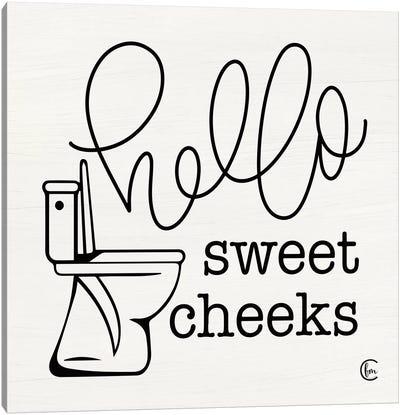 Hello Sweet Cheeks Canvas Art Print