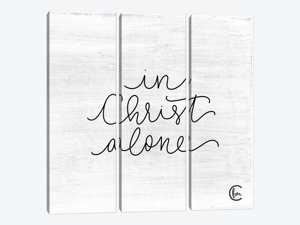 In Christ Alone by Fearfully Made Creations 3-piece Canvas Wall Art