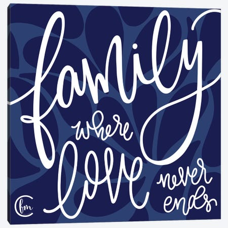 Love Never Ends Canvas Print #FMC32} by Fearfully Made Creations Canvas Art