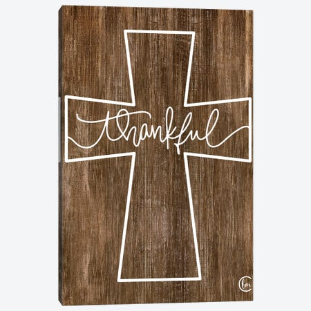 Thankful Cross Canvas Print #FMC36} by Fearfully Made Creations Canvas Print