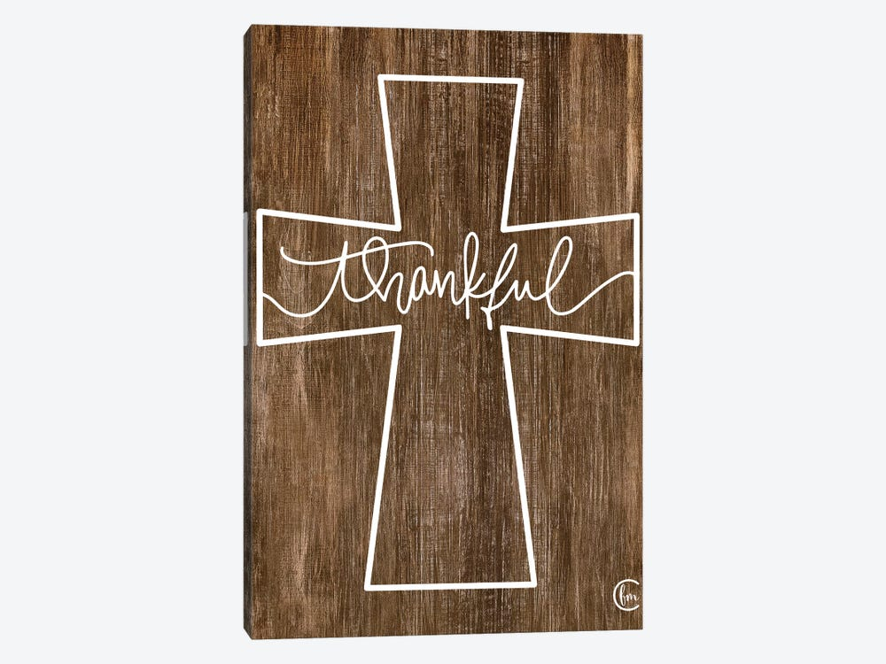 Thankful Cross by Fearfully Made Creations 1-piece Canvas Wall Art