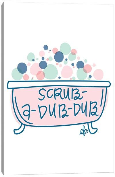 Scrub-a-Dub-Dub  Canvas Art Print