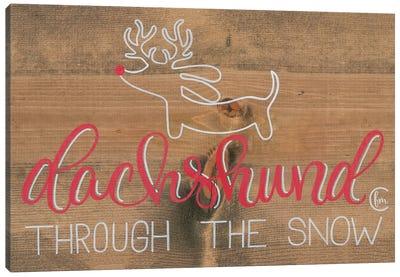 Dachshund in the Snow Canvas Art Print