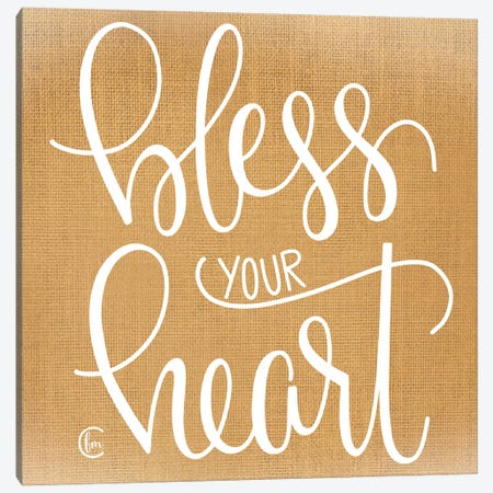 Bless Your Heart  Canvas Print #FMC53} by Fearfully Made Creations Canvas Artwork