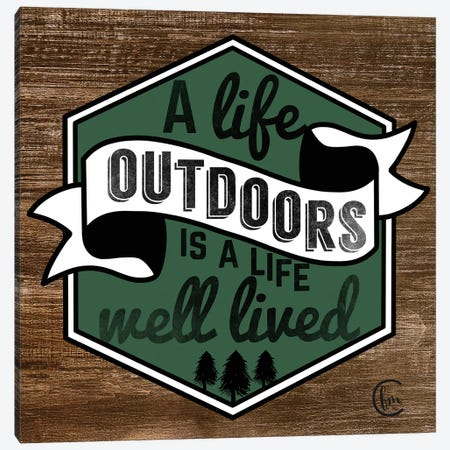 Outdoor Life 3-Piece Canvas #FMC64} by Fearfully Made Creations Canvas Wall Art