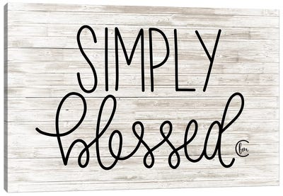 Simply Blessed     Canvas Art Print
