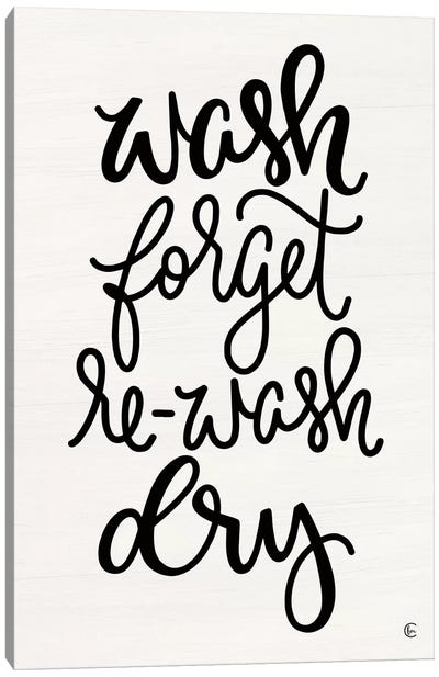 Wash and Forget    Canvas Art Print