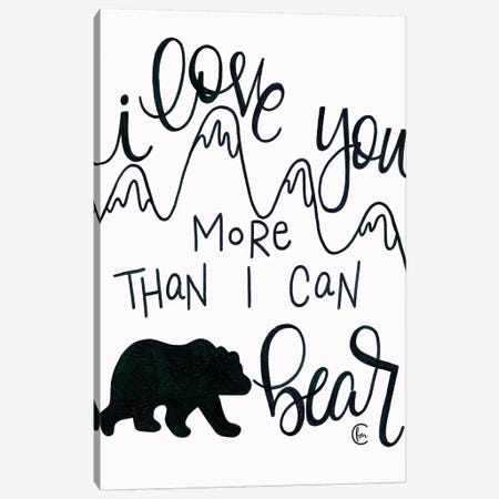 More Than I can Bear Canvas Print #FMC6} by Fearfully Made Creations Canvas Wall Art