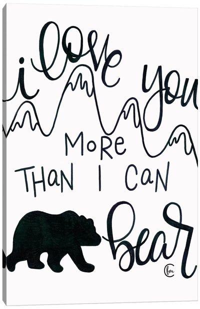 More Than I can Bear Canvas Art Print
