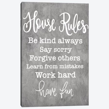 House Rules Canvas Print #FMC73} by Fearfully Made Creations Canvas Wall Art