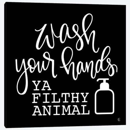 Wash Your Hands Canvas Print #FMC76} by Fearfully Made Creations Canvas Art Print