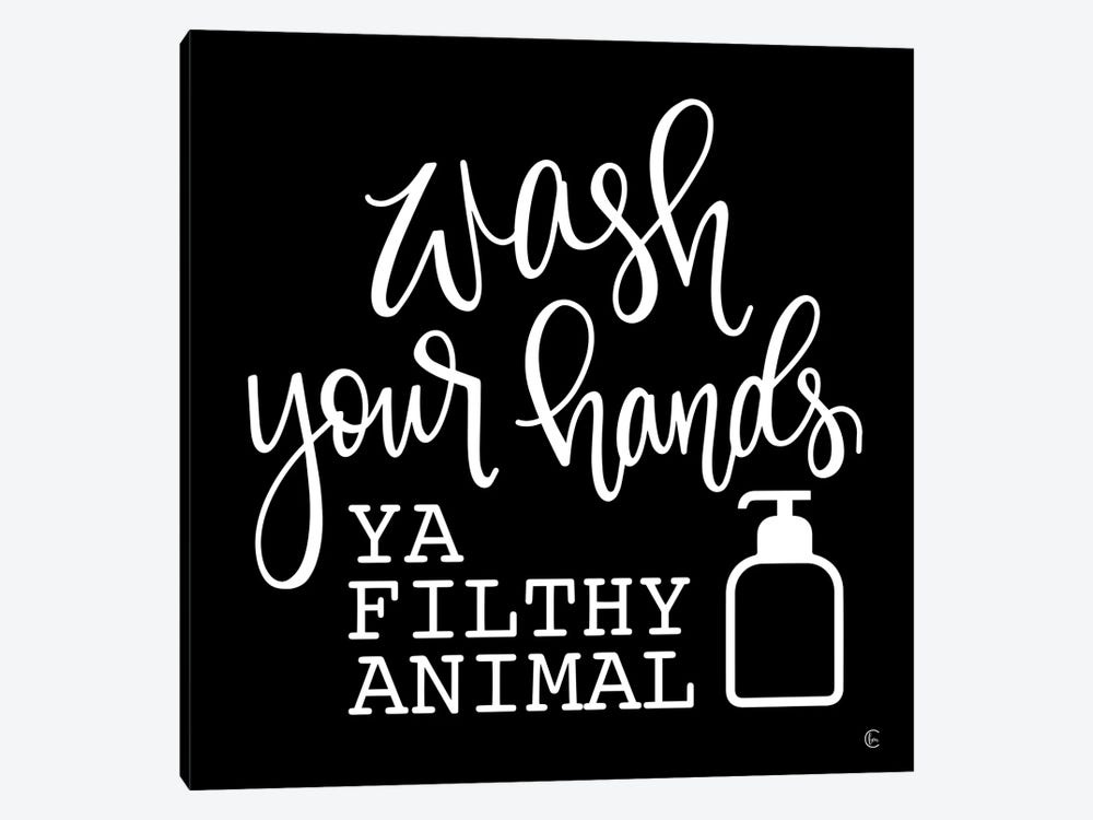 Wash Your Hands by Fearfully Made Creations 1-piece Canvas Artwork