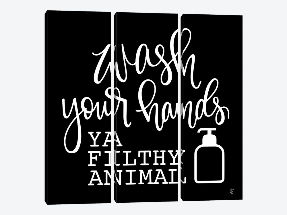 Wash Your Hands by Fearfully Made Creations 3-piece Canvas Art
